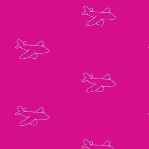 pinkplane silhouette-ch