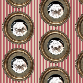 pug fabric - with stripes