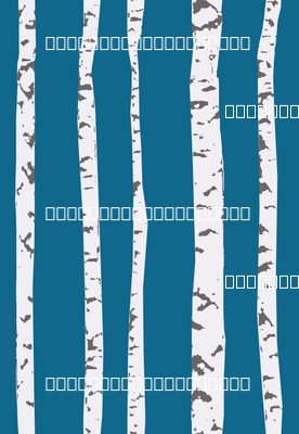 birch trees stripe blu