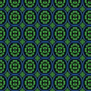 green and blue flower bandana 2