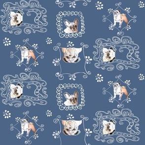 pug Vintage dogs