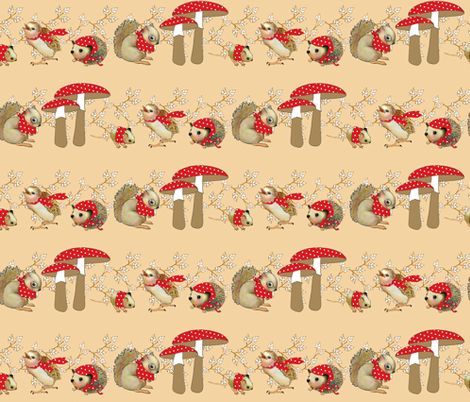 Mushroom Dot Ditto fabric by golders on Spoonflower - custom fabric