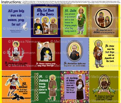 My 1st Book of Boy Saints cloth quiet fabric book