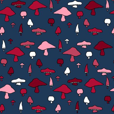 Mushroom Shuffle fabric by pond_ripple on Spoonflower - custom fabric