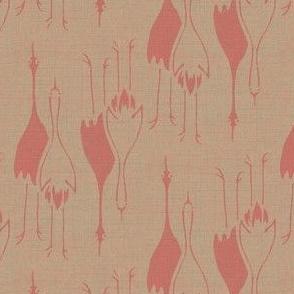 Cranes - rose/taupe