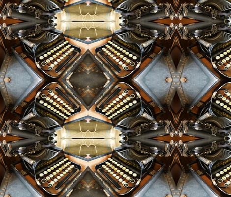 fe2e typewriter fabric by Kwiltabeest on Spoonflower - custom fabric