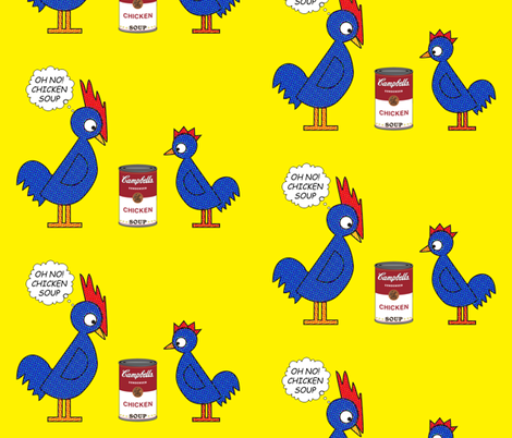 Pop_Art_Chickens fabric by kiki_ on Spoonflower - custom fabric