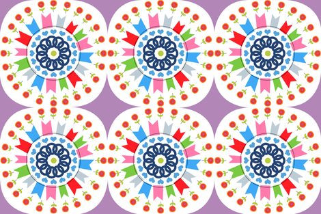 Flags and Flowers fabric by curlywillowco on Spoonflower - custom fabric