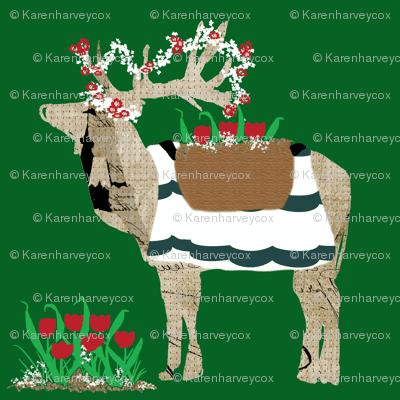Spring Is Here Reindeer