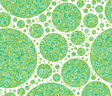 green white bluegreen circles fabric by craige on Spoonflower - custom fabric