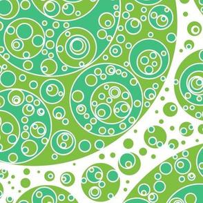 green white bluegreen circles