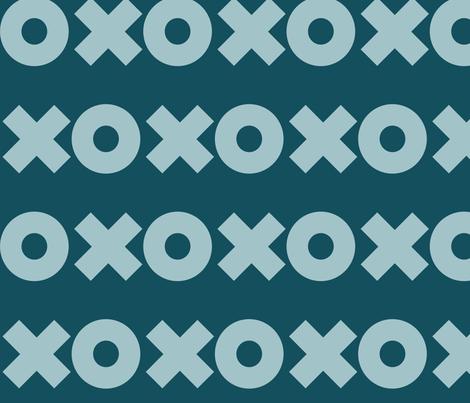 X_O_ fabric by chelsearabbit on Spoonflower - custom fabric