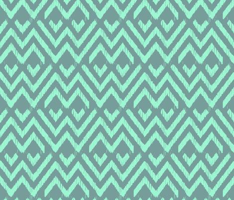 LAGOON ZIGGY  fabric by marcador on Spoonflower - custom fabric