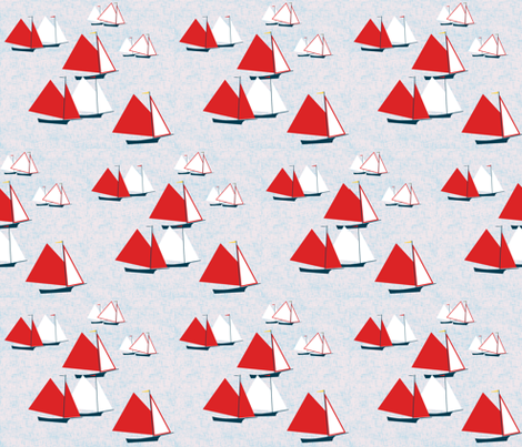 Racing gaff-rigged skiffs by Su_G  fabric by su_g on Spoonflower - custom fabric