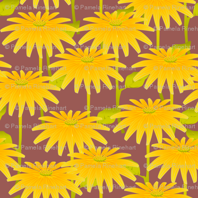 YELLOW FLOWER ruby gray