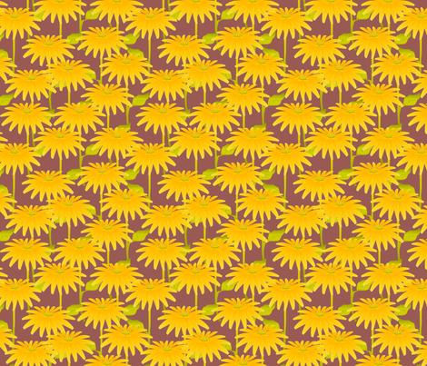YELLOW FLOWER ruby gray fabric by glimmericks on Spoonflower - custom fabric