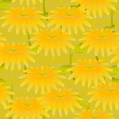 YELLOW FLOWER acid green