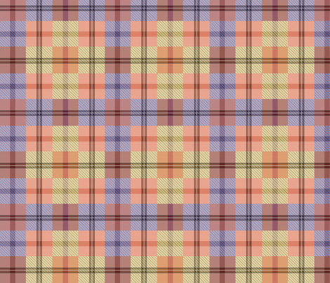 gingham plaid garden tools fabric by glimmericks on Spoonflower - custom fabric