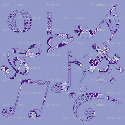 Whimsical Music Notes 1