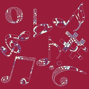 Whimsical Music Notes 6
