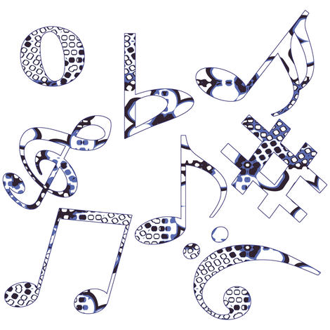 Whimsical Music Notes 8 fabric by animotaxis on Spoonflower - custom fabric