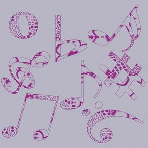 Whimsical Music Notes 9