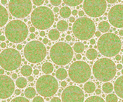 brown white green circles