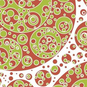 red white green circles