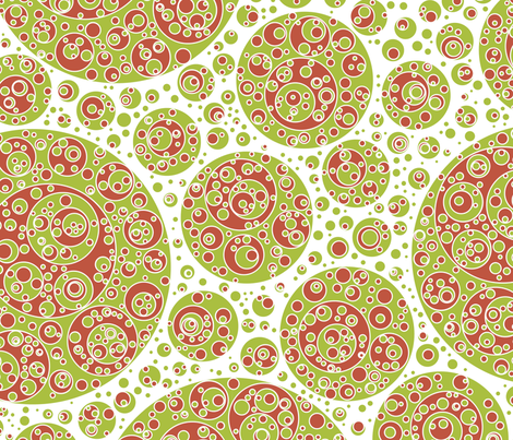 green white red circles fabric by craige on Spoonflower - custom fabric