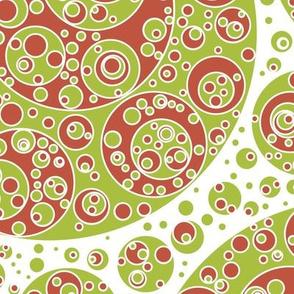 green white red circles