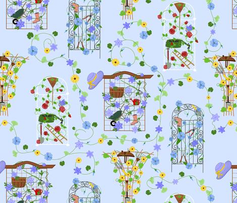 Hidden Garden fabric by loopy_canadian on Spoonflower - custom fabric