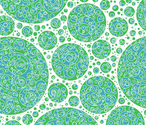 green white blue circles fabric by craige on Spoonflower - custom fabric