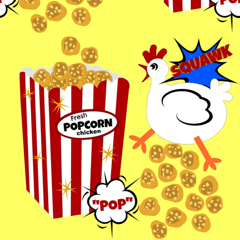 "Fresh ""POP"" Corn Chicken fabric by paragonstudios on Spoonflower - custom fabric"