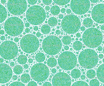 cyan white green circles