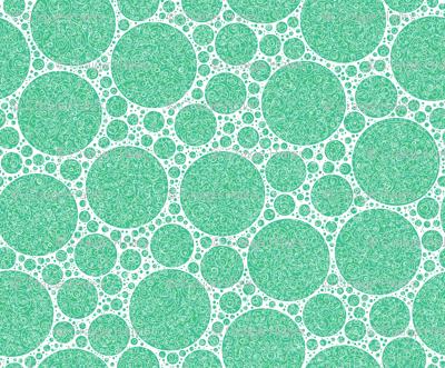 green white green circles