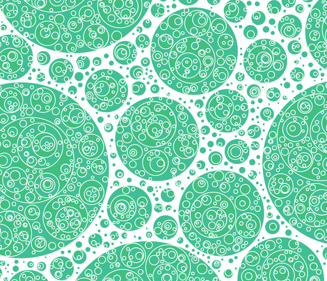 green white green circles fabric by craige on Spoonflower - custom fabric