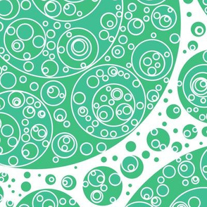 bluegreen white bluegreen circles