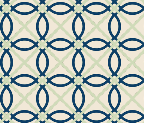 Euro Quatrefoil fabric by horn&ivory on Spoonflower - custom fabric
