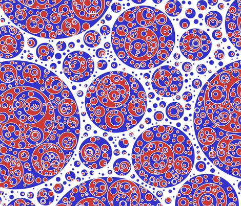 blue white red circles fabric by craige on Spoonflower - custom fabric