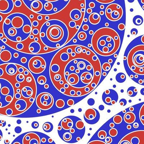 blue white red circles