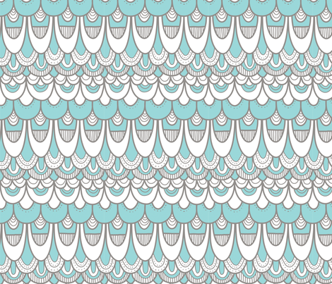 Scallop_Teal fabric by zoomalou on Spoonflower - custom fabric