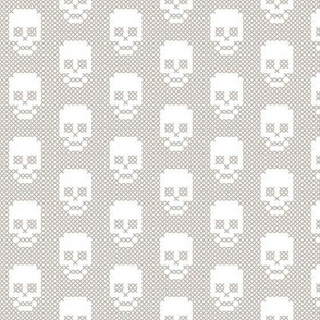Cross stitch skull grey