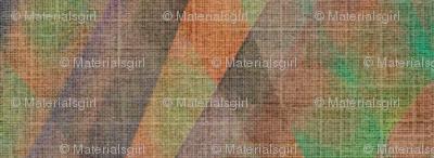 Prism -  multi- jewel toned, linen textured