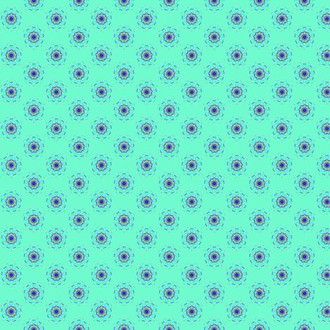 minty circlestars fabric by jellybeanquilter on Spoonflower - custom fabric