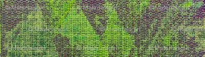 bishop's blanket - purple, lime green, light blue