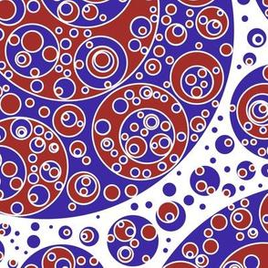 blue white brickred circles