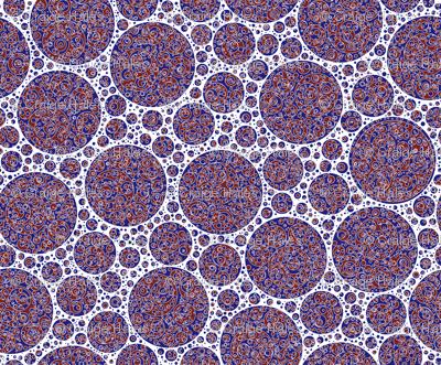 darkblue white darkred circles