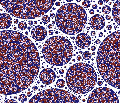 darkblue white darkred circles fabric by craige on Spoonflower - custom fabric
