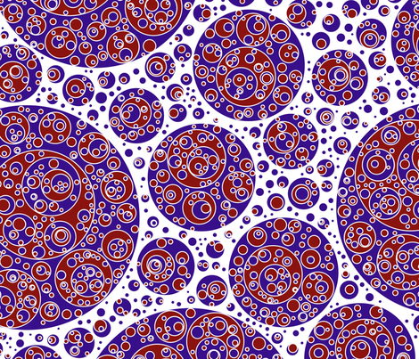 darkblue white red circles fabric by craige on Spoonflower - custom fabric
