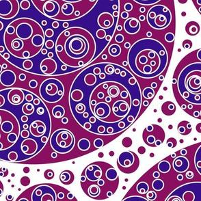 brickred white blue circles